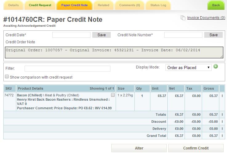 paper credits procure wizard